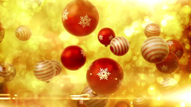 Christmas ornaments falling (red) - Loop video