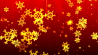 Christmas Red SnowFlakes video