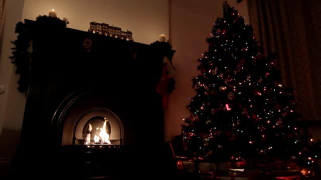 Christmas room at night video