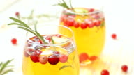 Christmas sangria with apple sider video