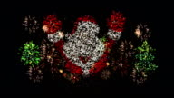 Christmas Santa Claus Fireworks video