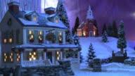 Christmas Scene - Country Inn & Church #4 video