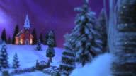 Christmas Scene - Country Inn & Church #5 video