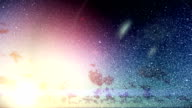 Christmas snow at sunrise video