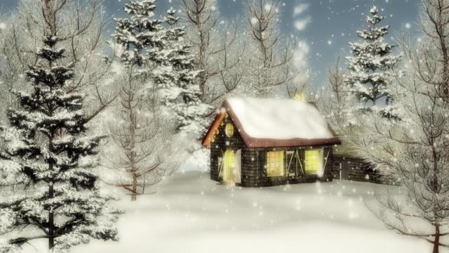 Christmas snow falling (loop) video