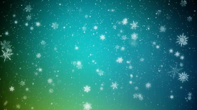 Christmas Snow Flakes Blue and Green video