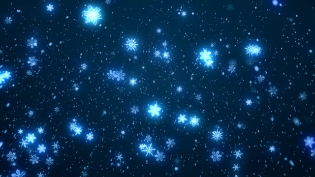 Christmas Snow Flakes Blue video