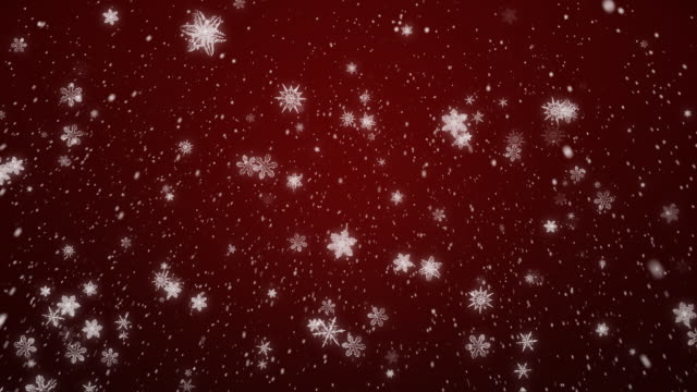 Christmas Snow Flakes Red video