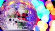 Christmas snow globe. video
