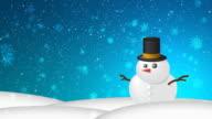 Christmas Snow HD Blue video