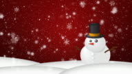 Christmas Snow HD Red video