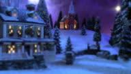 Christmas Snow Scene - Country Inn & Church #2 video