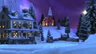 Christmas Snow Scene - Country Inn & Church #1 video