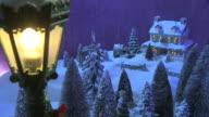 Christmas Snow Scene- Country Inn On Hill video