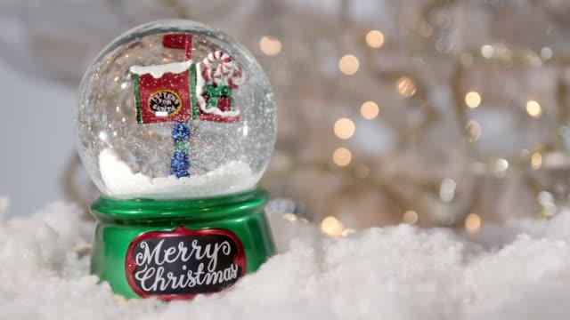 Christmas snowball with christmas tree video