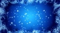Christmas Snowflake background Blue Loop video