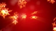 Christmas Snowflake background red Loop video