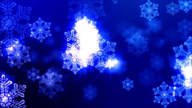 Christmas Snowflake Background video