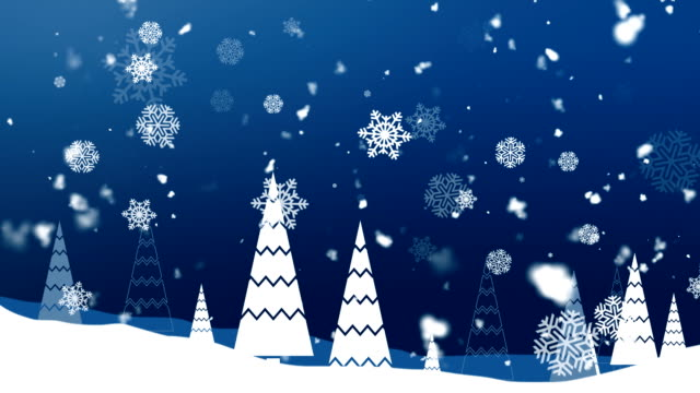 Christmas Snowflakes 1 Loopable Background video
