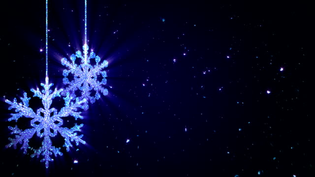 Christmas Snowflakes Background Blue video