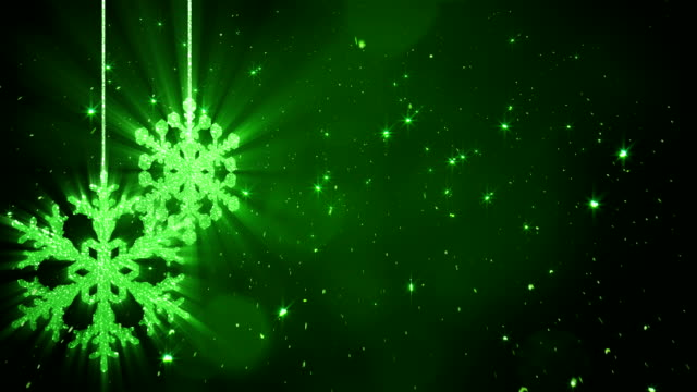 Christmas Snowflakes Background Green video