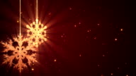 Christmas Snowflakes Background Red video