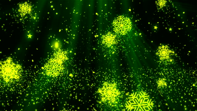 Christmas SnowFlakes Glitters 1 Loopable Background video
