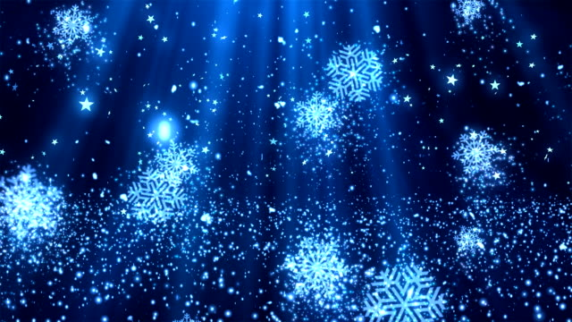 Christmas SnowFlakes Glitters 2 Loopable Background video