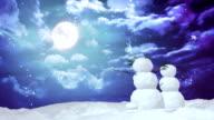 Christmas snowman moon video