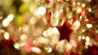 Christmas star on abstract background (soft focus) video