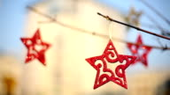 Christmas star,christmas decorations, tree, red video