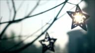 Christmas star,christmas decorations, tree, sun video