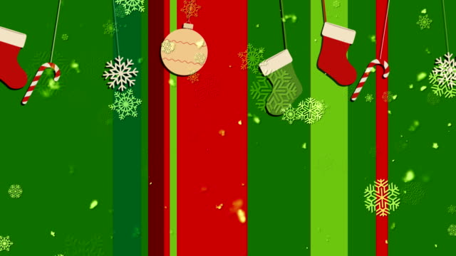 Christmas Stripes 1 Loopable Background video