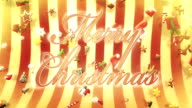 Christmas symbols falling (red, with text) - Loop video