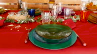 Christmas table decoration. video