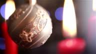 Christmas theme. Candles with Christmas lights. video