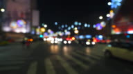 Christmas traffic in the city. video