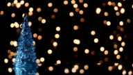 christmas tree and lights loopable background video