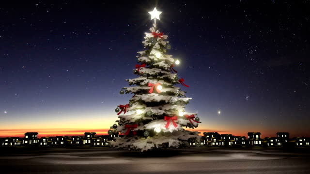 Christmas tree and twinkle gifts video