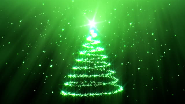 Christmas Tree Background green video