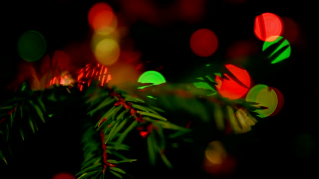 Christmas Tree Bokeh video
