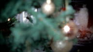 Christmas Tree by a Fireplace. HD video