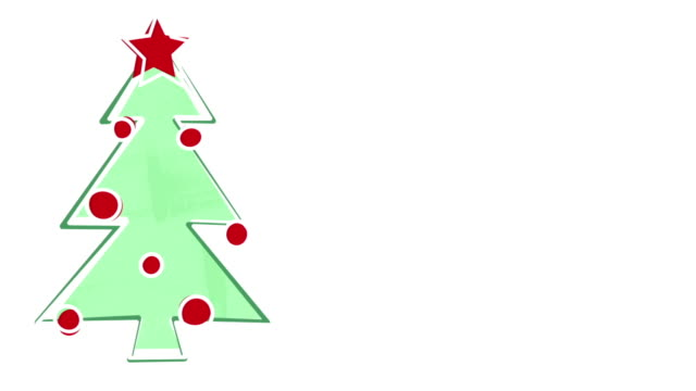 christmas tree child's drawing style and empty space video