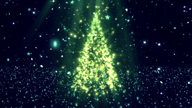 Christmas Tree Glitters 1 Loopable Background video
