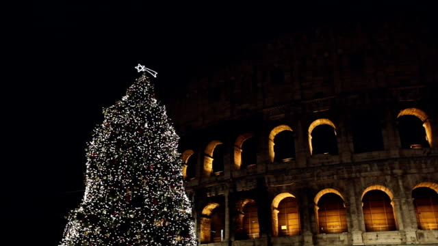 Christmas Tree in front of the Coliseum video