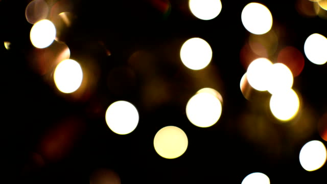 Christmas Tree Lights Bokeh video
