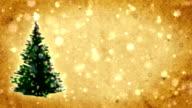 Christmas tree on the postcard.Retro style. video