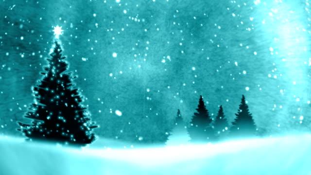 Christmas Tree on the snow. video