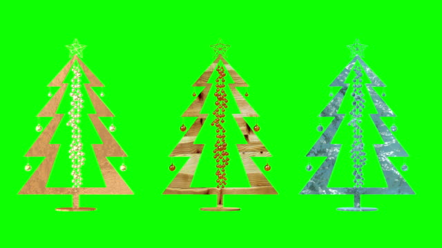 Christmas tree. toys. Green background. Loop. video