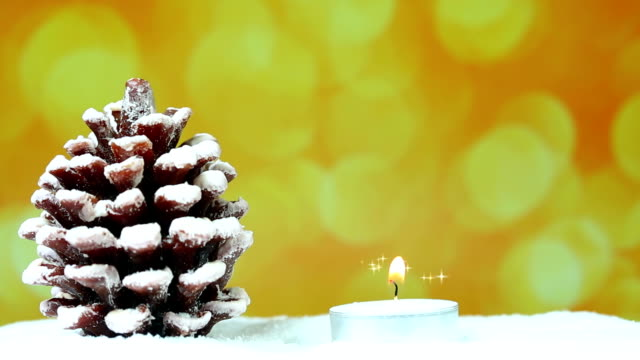 Christmas Tree with candle and glitter video